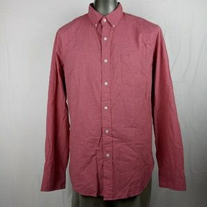 J.Crew Slim Fit Shirt Button Front Red Men's Large